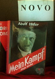 "A book store displays Adolf Hitler's ""Mein Kampf"" in this Dec. 8, 1999, file photo in downtown Sarajevo. German historians want Adolf Hitler's infamous manifesto, ""Mein Kampf,"" to be republished in an annotated version when the copyright lapses in 2015."