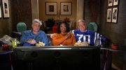 "In an image from video provided by CBS, Jay Leno, Oprah Winfrey and David Letterman record a promo for CBS' ""Late Show"" that aired during the broadcast of the Super Bowl on Sunday."