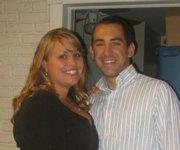 Rachael Juhls with her fiance John Meyers.