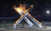 The olympic torch ignites at the conclusion of the opening ceremony of the Vancouver Olympics. The ceremony was held Friday in Vancouver, British Columbia.