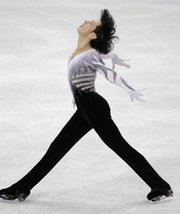 USA's Johnny Weir performs his free program during the men's figure skating competition Thursday at the Vancouver 2010 Olympics in Vancouver, British Columbia.