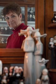 A collection of about 600 nun dolls and figurines that all belong to Loretta Gantenbein of Eudora.