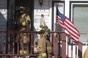 Fire crews respond to a house fire in Eudora Wednesday, Feb. 24, 2010.