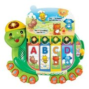 Toys with decibel levels over 100 dB include the VTech Touch & Teach Turtle.