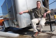 Kevin Fredrickson is the owner of Eagle Trailer Company, 920 E. 30th St. Fredrickson says he's scaled back production in the struggling economy and is keeping an eye out for signs of economic recovery.