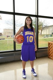 George leads the Haskell women's team with 18.3 points, 4.2 assists and 3.9 steals a game.