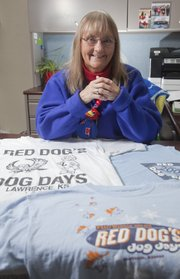 Ellen Young has lost 65 pounds by participating in Red Dog Days. Young's been a participant since 1997 and collects the annual Red Dog shirts.