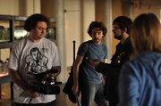 """The crew of """"Dead Wait"""" films a scene."""