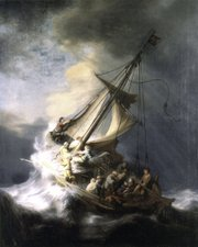 "The painting ""The Storm on the Sea of Galilee"" by Rembrandt, seen in This undated photograph released by the Isabella Stewart Gardner Museum, was one of more than a dozen works of art burglars stole during a 1990 heist in Boston.  It remains the most tantalizing art heist mystery in the world."