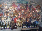Honors for Holy-Field Vineyard and Winery are on display at the Basehor home base.