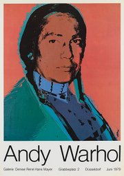 A 1976 portrait of Means by Andy Warhol.