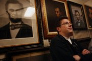 "Seth Grahame-Smith, author of ""Abraham Lincoln: Vampire Hunter,"" tours the Abraham Lincoln Presidential Library before a discussion and signing for his March 6 book premiere in Springfield, Ill."