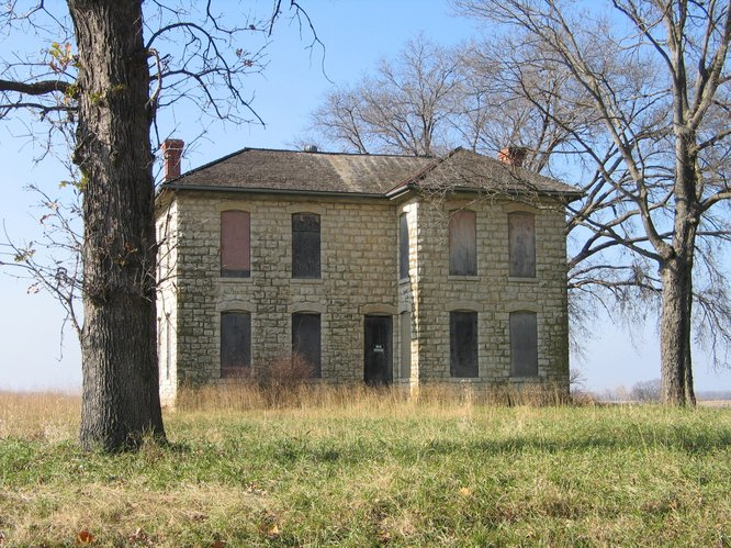 The Vermilya-Boener house, at East 1400 and North 1900 roads northwest of Lawrence, is on the Kansas Preservation Alliance Inc.'s list of endangered historic places.