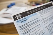 A copy of a 2010 Census form is shown Thursday at a Census Day event at the Caldwell Housing Authority in Caldwell, Idaho. Census employment offers the work force a welcome boost.