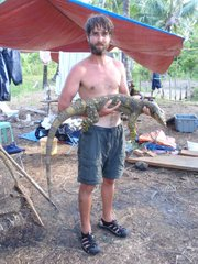 Luke Welton, a Kansas University graduate student, was one of the first biologists to see a living Northern Sierra Madre Monitor Lizard in Aurora province, Philippines.