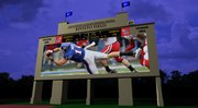 A rendering of KU's new football scoreboard by Daktronics, Inc.