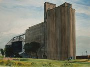 "Bill Goffrier&squot;s ""Western Grain Elevator, North Wichita."""