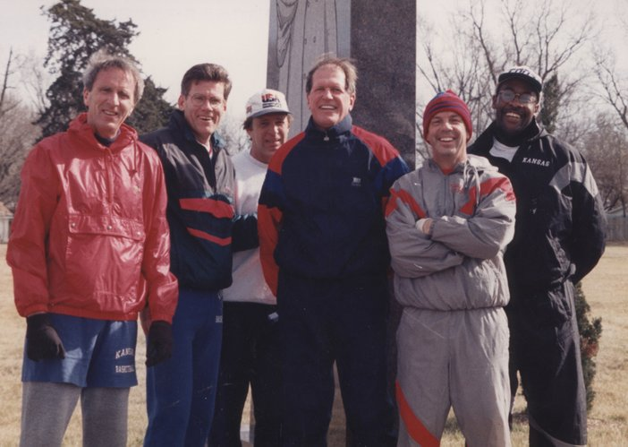 Michael Davis, Scot Buxton, Randy Towner, Bob Frederick, Roy Williams and Steve Robinson used to jog in Lawrence. The Kansas University School of Education organizes a 5K event called the Dr. Bob Run, which benefits a scholarship in Frederick's name. This year's event will be Oct. 6.