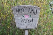 A Hoyland Farm sign sits along the roadside at 1954 Union Road north of Lawrence.