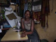 Sarah, one of Awava&#39;s tailors, in Gulu, Uganda.