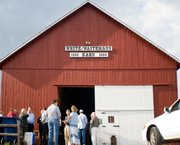 The barn was a popular place for community events, including a gathering for area chambers of commerce in April.
