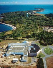 This undated file photo provided by the Agricultural Research Service of the U.S. Department of Agriculture shows Plum Island Animal Disease Center off the coast of New York's Long Island. The federal government is looking for the public's input on what to do with the island now that plans are under way to move an animal research lab there to Kansas.