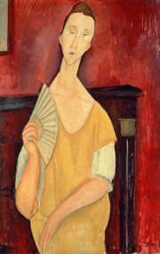"Amadeo Modigliani's ""La femme a l'eventail"""