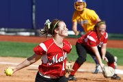 Maize pitcher Katlyn Kern delivers a pitch during the state championship game against Olathe South.