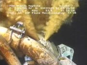 This image made from video released by British Petroleum early Saturday morning shows drilling mud escaping from the broken pipe on the gushing oil well in the Gulf of Mexico. BP started pumping heavy mud into the leaking Gulf of Mexico well Wednesday but declared the effort a failure on Saturday.