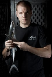 Jeff Lewis, chef and co-owner at Angler's Seafood House, is one of the chefs competing in the River City Cook Off on Sunday. The other chefs competing are Ken Baker of Pachamama's, Subarna Bhattachan of Zen Zero, Rafael Gonzalez of Global Cafe and Angel Alvarez of Tortas Jalisco.