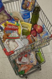 Lawrence resident Jenn Hethcoat used these purchases to feed her family for a week.
