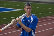 Kansas University pole vaulter Jordan Scott will lead KU's nationally ranked men's and women's track and field teams into competition at the NCAA Outdoor Championships today in Eugene, Ore.