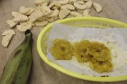 Tostones — twice fried plantain chips.