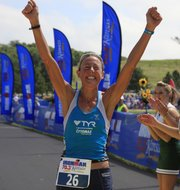 Chrissie Wellington, who was the women's winner in last year's Kansas Ironman 70.3, is scheduled to defend her title in today's race at Clinton State Park.