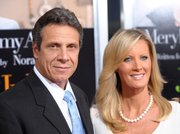 "New York Attorney General Andrew Cuomo, left, and TV lifestyle celebrity Sandra Lee attend the premiere of ""Julie & Julia"" at The Ziegfeld Theatre, in New York in this July 30, 2009, file photo.  Cuomo and Lee have been a couple for five years."