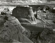 "The Photo above provided by Sotheby's shows Ansel Adams' ""Canyon de Chelle National Monument, Arizona, 1942."" The image is among 1,000 Polaroid and gelatin silver prints by some of the biggest names in 20th-century photography being offered at Sotheby's on June 21-22 as part of a bankruptcy court-approved sale.The largest number of works were taken by Adams, about 400 Polaroid and non-Polaroid images."