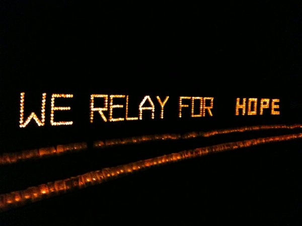 The focal point of Relay For Life of Douglas County, which benefits the American Cancer Society. Money raised goes toward cancer research and programs for cancer patients.