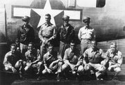 Loren Corliss, upper left, of Wichita, poses for a group photo in this undated photo provided by Corliss. Corliss was a B-24 pilot in World War II and survived 45 days in a Philippine jungle after his plane was shot down by Japanese fighter planes.