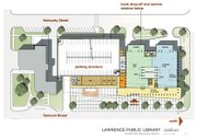 This artist's rendering shows the floor plan of the proposed expansion to the Lawrence Public Library.