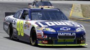 Jimmie Johnson takes practice laps in preparation for the Toyota/Save Mart 350 auto race on Friday at Infineon Raceway in Sonoma, Calif. Johnson qualified second Friday for Sunday's race.