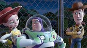 "From left, Jessie, voiced by Joan Cusack, Buzz Lightyear, voiced by Tim Allen and Woody, voiced by Tom Hanks are shown in a scene from, ""Toy Story 3"" in this film publicity image released by Disney."