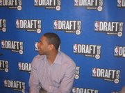 Former Kansas forward Xavier Henry grins during an NBA Draft media session on Wednesday, June 23, in New York City.