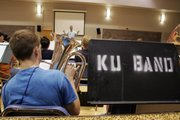 A euphonium player rehearses with a band during the Junior High Music Camp, part of the Midwestern Music Academy at KU.
