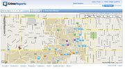 This screen capture of the KU Public Safety department's online map shows crimes across the KU campus from January 1, 2010 to June 28. Icons are placed on the map after a crime takes place at that location.