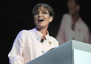 Former Alaska Gov. Sarah Palin speaks Tuesday in Duluth, Ga.  Palin has endorsed Joe Miller, a tea party-backed candidate who wants to turn a fellow Republican, Alaska Sen. Lisa Murkowski, out of office.