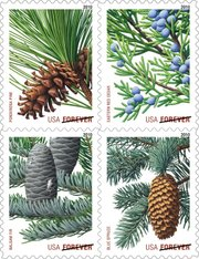 "This undated handout image provided by the U.S. Postal Service shows the new ""forever"" stamps. The post office wants to increase the price of a stamp by 2 cents to 46 cents starting in January. The agency has been battered by massive losses and declining mail volume and faces a financial crisis."