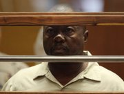 "Lonnie David Franklin Jr. appears for arraignment on multiple charges as the alleged ""Grim Sleeper"" killer Thursday in Los Angeles Superior Court."