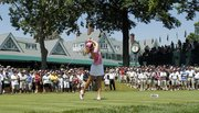 Paula Creamer tees off on the first hole during the final round of the U.S. Women's Open. Creamer won her first major on Sunday at Oakmont Country Club in Oakmont, Pa.