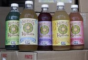 The product line of Katalyst Kombucha fermented tea is shown at the company in Greenfield, Mass.