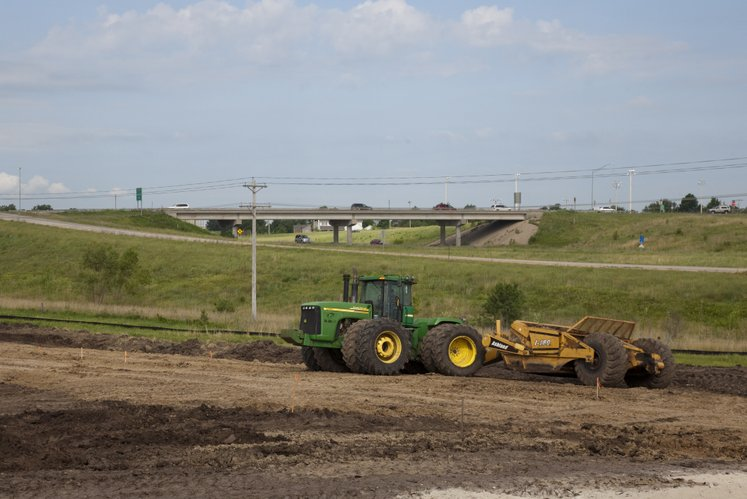 Work is under way at the site of Lawrence Memorial Hospital's new medical center in Eudora. The center is located on the southeast corner of Church Street and Kansas Highway 10. The 10,500-square-foot center is expected to open next July.